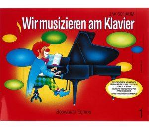 Notenbuch von Schaum Wir musizieren am Klavier